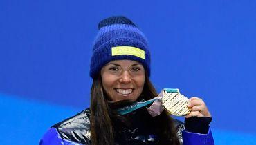 Пхенчхан. Шведка Шарлотта КАЛЛА - первая золотая медалистка Олимпиады-2018. Фото AFP
