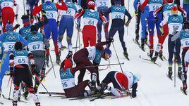 Лыжи. Мужской скиатлон.