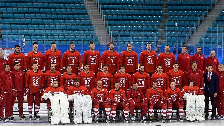 Мужская сборная России по хоккею на Олимпиаде в Пхенчхане. Фото Юрий КУЗЬМИН, photo.khl.ru