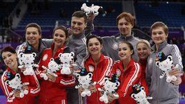 Олимпийская сборная России по фигурному катанию.