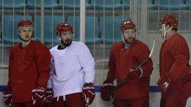 Сегодня. Пхенчхан. Тренировка сборной России по хоккею.