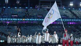 9 февраля. Пхенчхан. Из-за допингового скандала российская делегация была вынуждена на церемонии открытия Игр-2018 идти под олимпийским флагом.