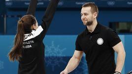 Сегодня. Пхенчхан. Анастасия БРЫЗГАЛОВА и Александр КРУШЕЛЬНИЦКИЙ взяли бронзу в дабл-миксте.