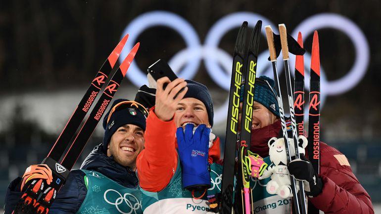 Йоханнес КЛЭБО (в центре), Федерико ПЕЛЛЕГРИНО (слева) и Александр БОЛЬШУНОВ. Фото AFP