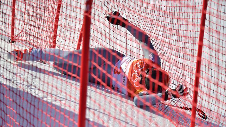 Сегодня. Пхенчхан. Падение Павла ТРИХИЧЕВА. Фото AFP