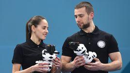 Первые в истории российские призеры Олимпийских игр в керлинге Анастасия БРЫЗГАЛОВА и Александр КРУШЕЛЬНИЦКИЙ.