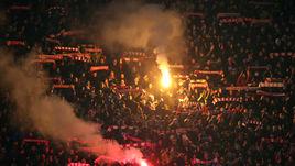 "Вторник. Белград. ""Црвена Звезда"" - ЦСКА - 0:0. Файер-шоу на стадионе."