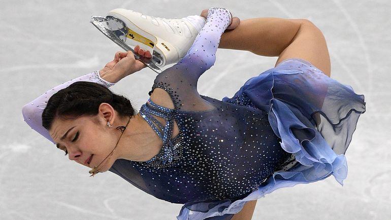 Евгения МЕДВЕДЕВА напоминает Алексею Кортневу Усэйна Болта. Фото AFP