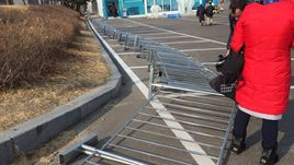 Сегодня. Пхенчхан. Последствия сильнейшего ветра.