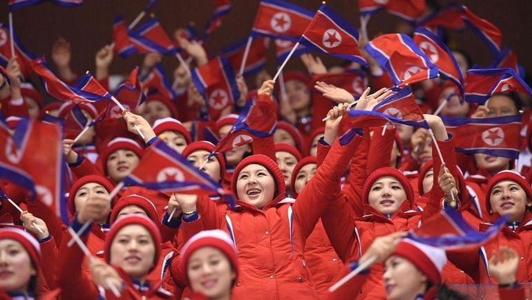Сегодня. Пхенчхан. Болельщики из Северной Кореи. Фото AFP
