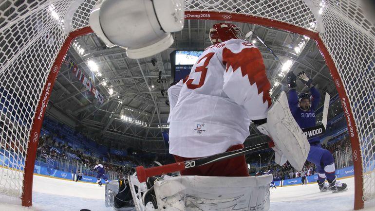 Вратарь сборной России Василий КОШЕЧКИН. Фото AFP
