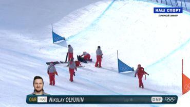 Сноубордист Олюнин получил травму в полуфинале Олимпиады. Фото