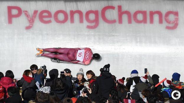 Сегодня. Пхенчхан. Никита ТРЕГУБОВ завоевывает серебро в скелетоне. Фото AFP