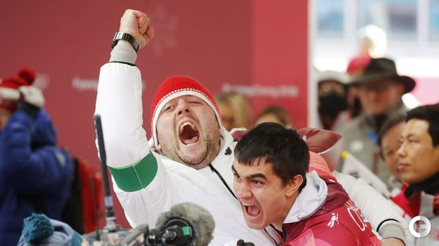 Сегодня. Пхенчхан. Никита ТРЕГУБОВ завоевывает серебро в скелетоне. Фото Reuters