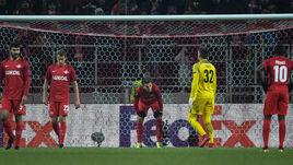 """Четверг. """"Спартак"""" - """"Атлетик"""" - 1:3. Красно-белые пропустили гол от испанской команды."""