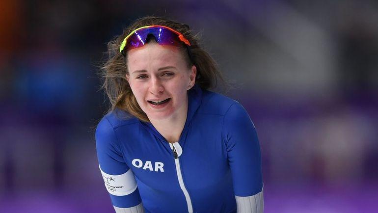 Сегодня. Пхенчхан. Эмоции Натальи ВОРОНИНОЙ после финиша. Фото AFP