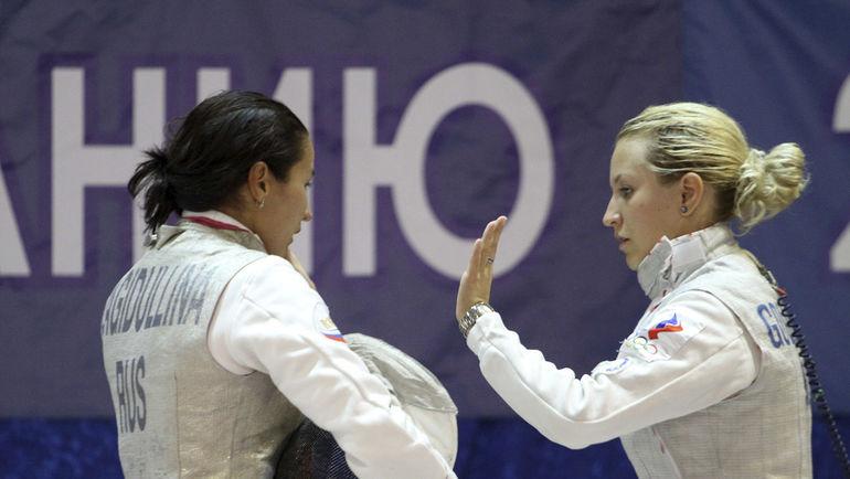 Татьяна Голосеева (справа). Фото rusfencing.ru