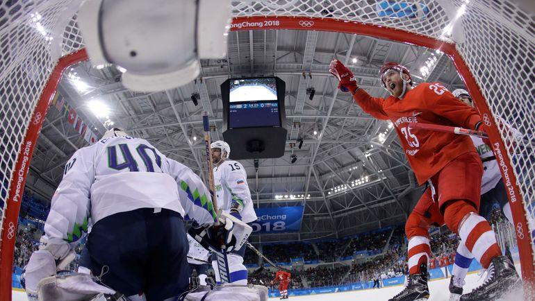 Весьма вероятно, что в четвертьфинале Олимпиады сборная России снова сыграет со Словенией, которую разгромила в пятницу - 8:2. Фото AFP