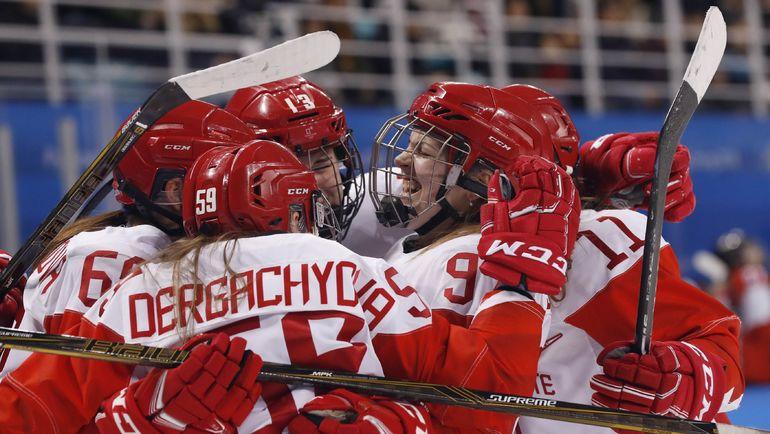 Россия - Швейцария - 6:2. Радость россиянок. Фото REUTERS