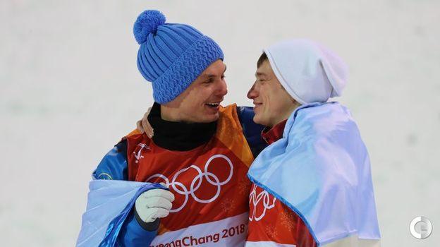 Сегодня. Пхенчхан. Александр АБРАМЕНКО (слева) и Илья БУРОВ. Фото Reuters