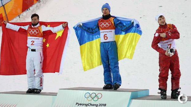 Сегодня. Пхенчхан. Цзя ЦЗУНЯН, Александр АБРАМЕНКО и Илья БУРОВ (слева направо). Фото Reuters