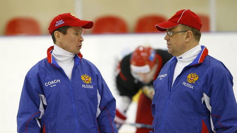 Вячеслав БЫКОВ и Игорь ЗАХАРКИН. Фото Алексей ИВАНОВ