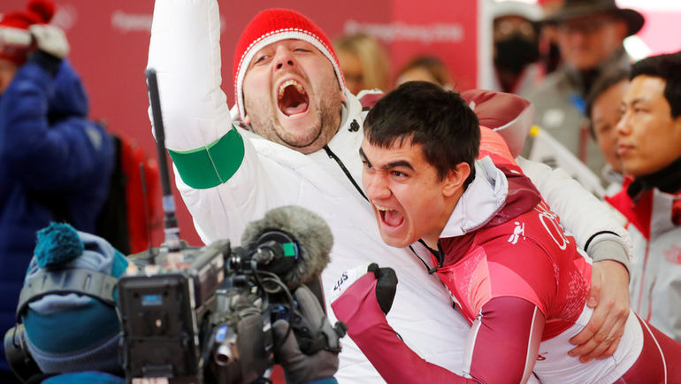 16 февраля. Пхенчхан. Эмоции Никиты ТРЕГУБОВА (справа). Фото Reuters
