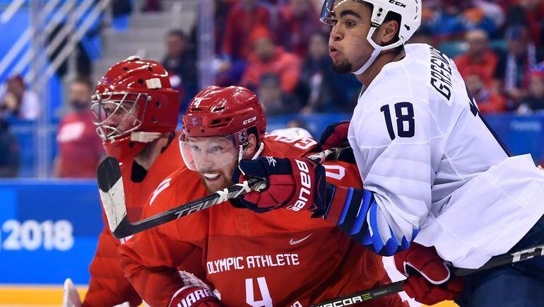 """Спецкор """"СЭ"""" насчитал в сборной России шесть рыжих хоккеистов, включая Владислава ГАВРИКОВА (№4). Фото AFP"""