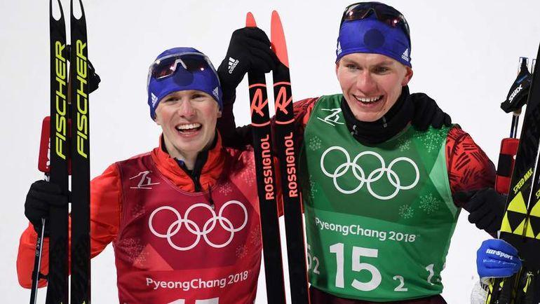 Среда. Пхенчхан. Денис СПИЦОВ (слева) и Александр БОЛЬШУНОВ. Фото AFP