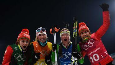 Белоруссия - олимпийский чемпион в женской биатлонной эстафете!