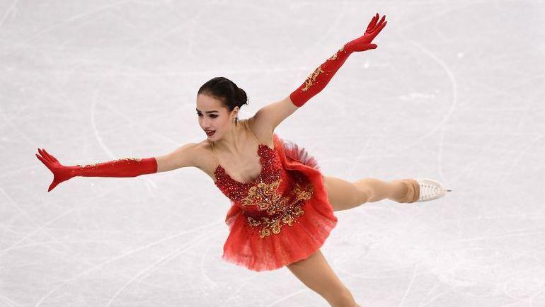 Алина ЗАГИТОВА на льду Пхенчхана - в произвольной программе. Ее она уже представила в командном турнире. Фото AFP