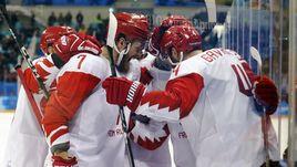 Счастье на льду. Победные кадры матча Чехия - Россия