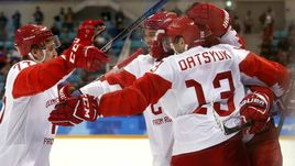Сегодня. Пхенчхан. Чехия - Россия - 0:3. Россияне впервые с 1998 года вышли в финал Олимпиады.