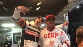Немецкие фанаты празднуют выход хоккейной сборной в финал
