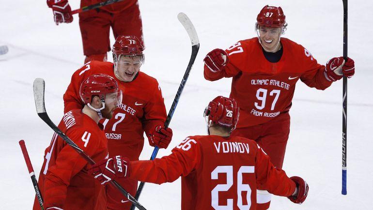 Сборная России по хоккею сыграет в финале Олимпиады в красной форме. Фото Reuters