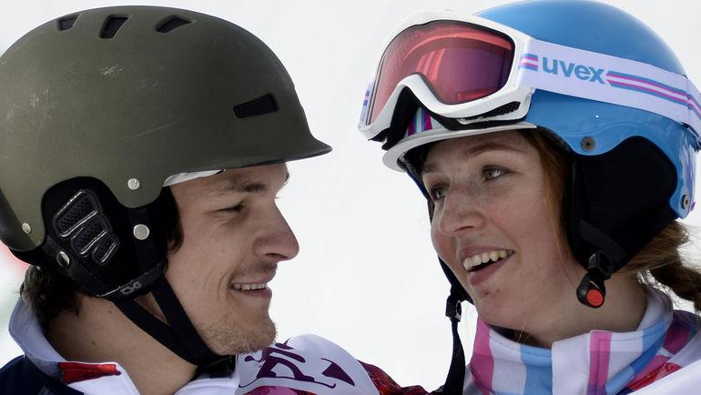 Февраль 2014 года. Сочи. Вик УАЙЛД и Алена ЗАВАРЗИНА. Фото AFP