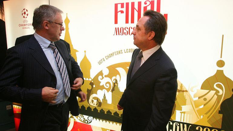 2007 год. Вячеслав ФЕТИСОВ (слева) и Виталий МУТКО. Фото Алексей ИВАНОВ
