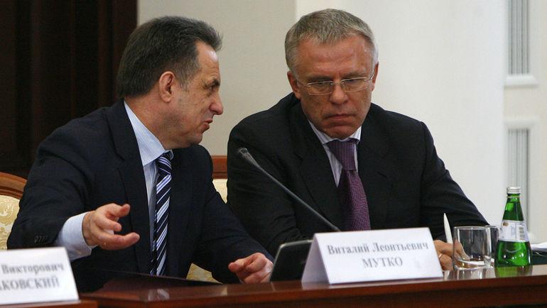 2009 год. Вячеслав ФЕТИСОВ (справа) и Виталий МУТКО. Фото Алексей ИВАНОВ