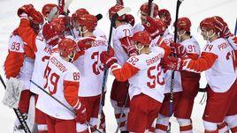 Хоккеисты сборной России после победы над Чехией в полуфинале Олимпиады. Завтра россияне сыграют в финале с Германией.