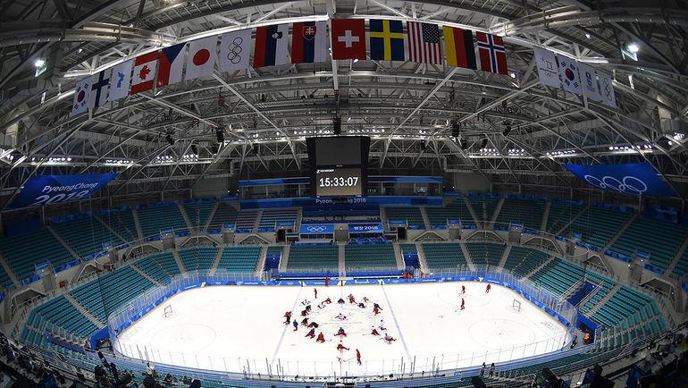 Тренировка сборной России. Фото ФХР, fhr.ru
