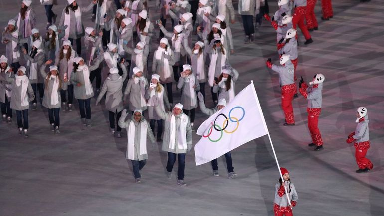 На церемонии закрытия Игр россияне пройдут под флагом МОК. Фото REUTERS