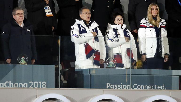 Воскресенье. Пхенчхан. Церемония закрытия Олимпийских игр. Президент МОК Томас БАХ (слева). Фото REUTERS