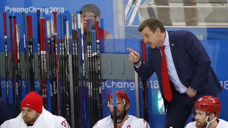 Олег ЗНАРОК и Илья КОВАЛЬЧУК (№71) на скамейке сборной России. Фото REUTERS