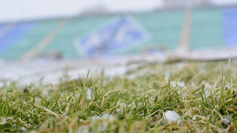 "Газон стадиона ""Металлург"". Фото ""СЭ"""