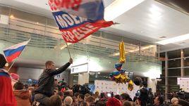 Олимпийцы приземлились в Москве. Live!