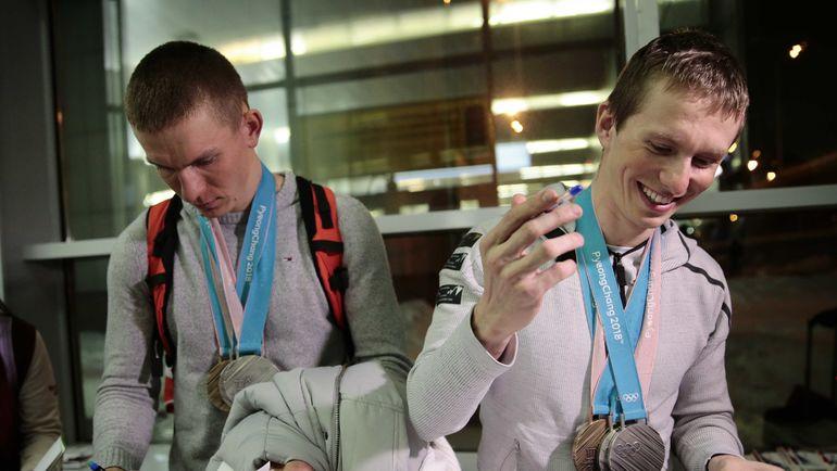 Александр БОЛЬШУНОВ (слева) и Денис СПИЦОВ. Фото REUTERS