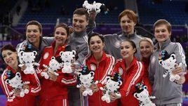 Сборная России заняла второе место в командных соревнованиях фигуристов на Олимпиаде.