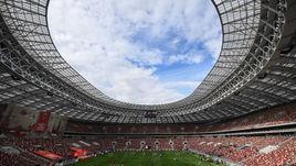 """Стадион """"Лужники"""", где пройдет стартовый матч чемпионата мира 2018 года."""