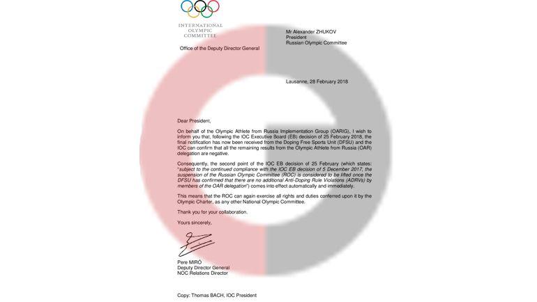 Письмо от Томаса Баха.