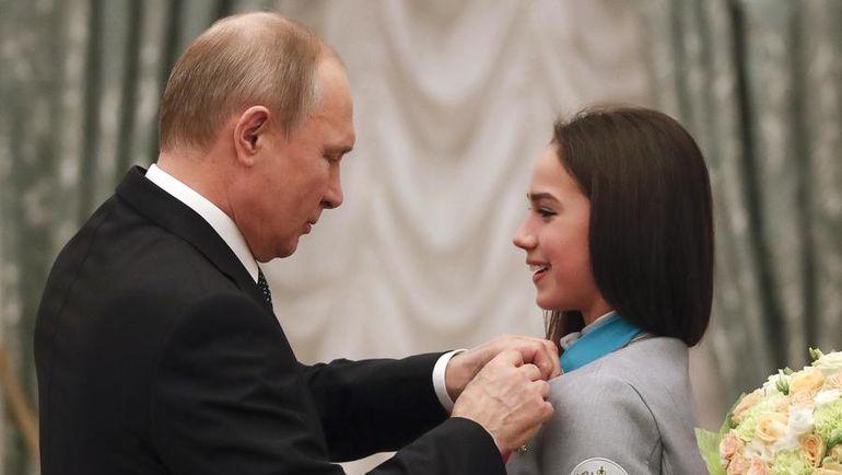 Среда. Кремль. Владимир ПУТИН и Алина ЗАГИТОВА. Фото AFP